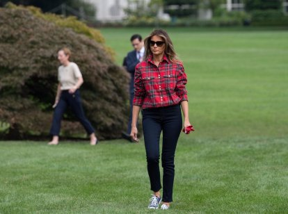 Melania-Trump-Balmain-Gardening-Shirt