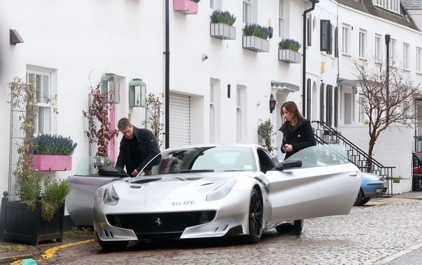 *EXCLUSIVE* British Actor Hugh Grant and pregnant partner Anna Eberstein out in West London.