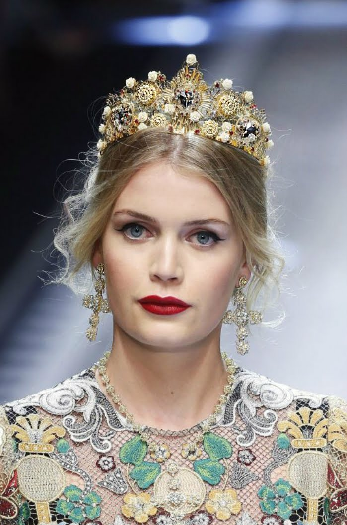 Lady Kitty Spencer Dolce Gabbana Milan Fashion Week