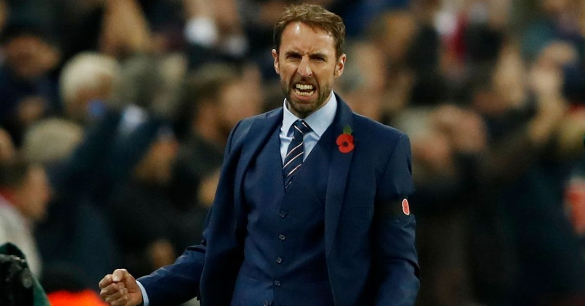 England-interim-manager-Gareth-Southgate-celebrates-after-Gary-Cahill-scored-their-third-goal